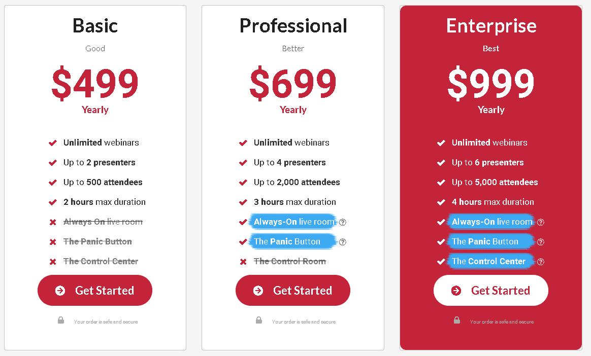 webinarjam webinar software pricing