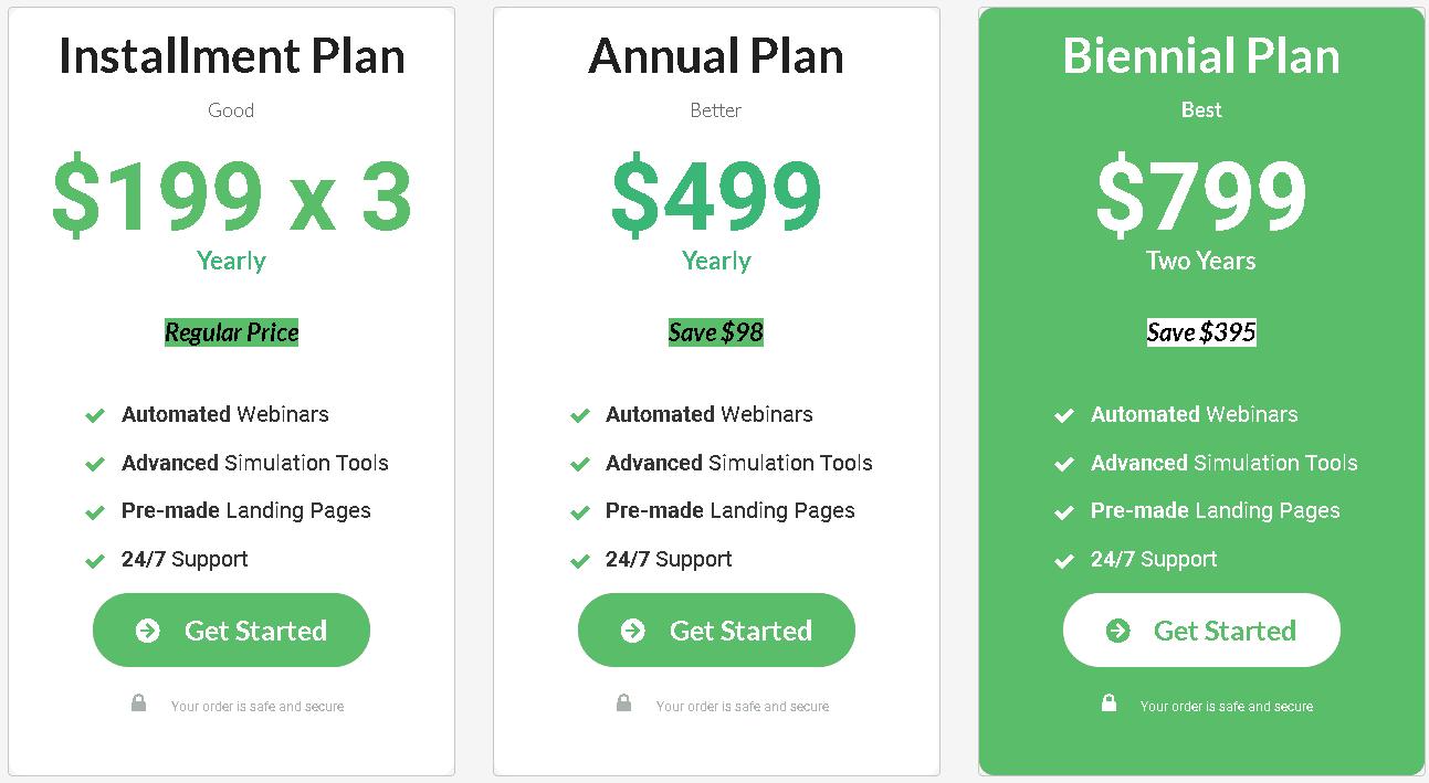 Everwebinar software pricing